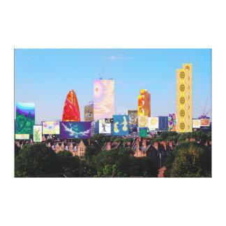 London-Skyline-Collage 1 Leinwanddruck