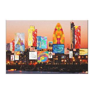 London-Skyline-Collage 2 Leinwanddruck
