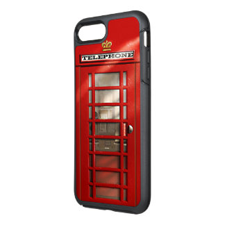 London-Stadt-britische rote Telefonzelle OtterBox Symmetry iPhone 8 Plus/7 Plus Hülle