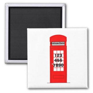 London-Telefonzelle-Geschäfts-Werbeaktion-Magnet Quadratischer Magnet
