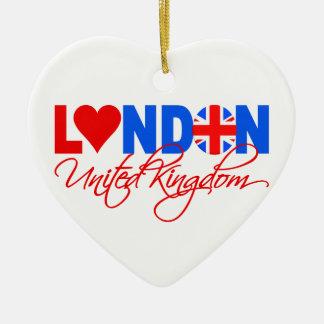 London-Verzierung Keramik Herz-Ornament