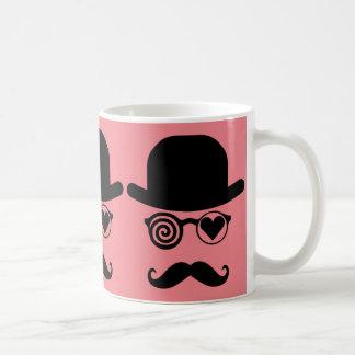 Londoner, der in Liebe Schnurrbart fiel Kaffeetasse