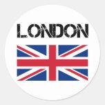 Londres Autocollants Ronds