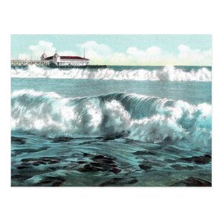 Long Beach Unterbrecher-Vintage Postkarte
