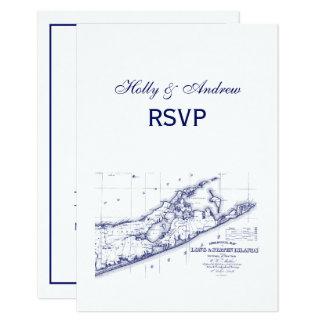 Long Island das Hamptons Karte VC UAWG