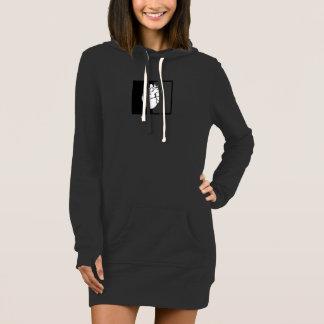 Long sweat - shirt à capuche indélébile