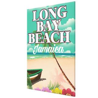 Longue affiche de voyage de la Jamaïque de plage Toiles