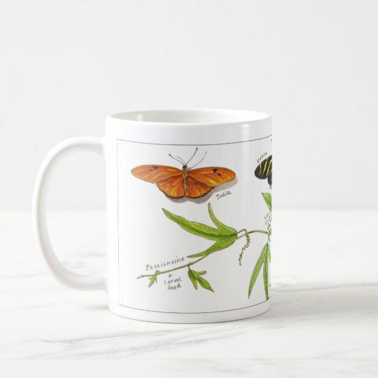 Longwing Schmetterlinge Kaffeetasse