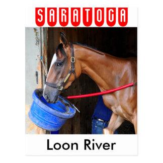 Loon-Fluss bei Saratoga Postkarte
