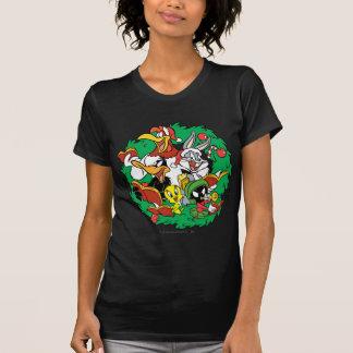 Looney Melodien-Gruppen-WeihnachtsKranz T Shirts