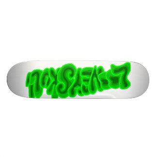 LooneySkull-Grün Skateboardbrett