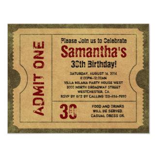 L'or vintage fait sur commande admettent des carton d'invitation 10,79 cm x 13,97 cm