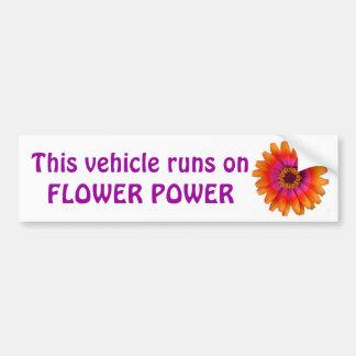 l'orange de marguerite de flower power, ce véhicul autocollant de voiture