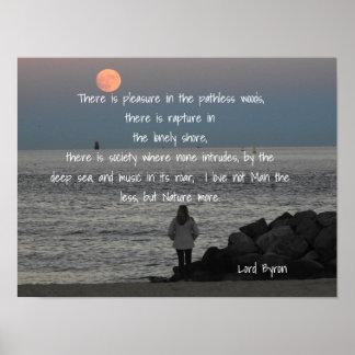 Lord Byron - Zitat - Kunst-Druck Poster