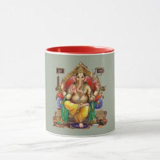 Lord Ganesh, hindischer Gott des Reichtums u. Tasse