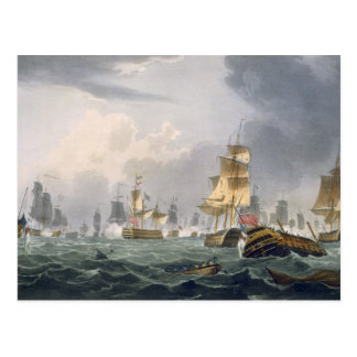 Lord Howes Victory am 1. Juni 1794 graviert durch Postkarte