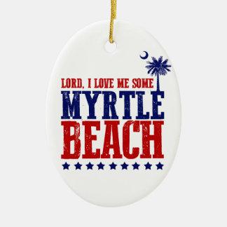Lord, i-Liebe ich irgendein Myrtle Beach Ovales Keramik Ornament