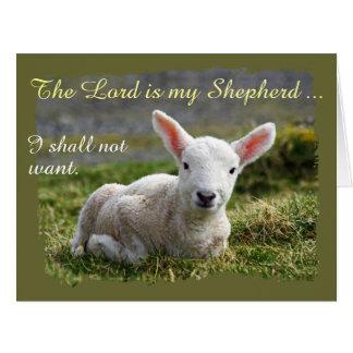 Lord ist mein kleines weißes Lamm des Karte