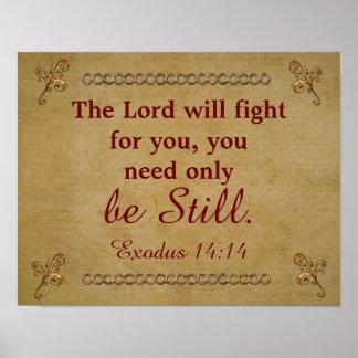 Lord kämpft für Sie - Exodus - Kunst Druck Poster