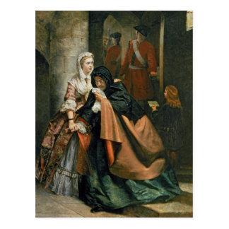 Lord Nithsdale, Entweichen vom Turm Postkarte