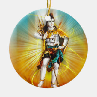 Lord Shiva Rundes Keramik Ornament