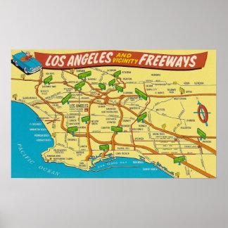 Los Angeles-Autobahnen Poster
