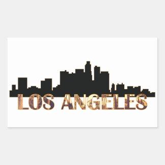 Los Angeles Rechteckiger Aufkleber