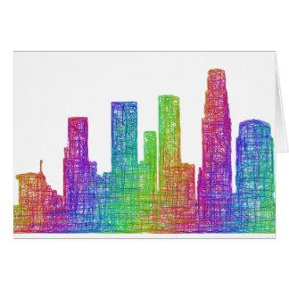 Los Angeles-Skyline Karte