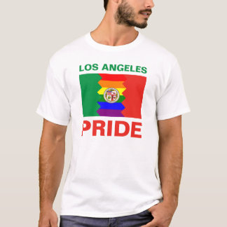 Los Angeles-Stolz-Regenbogen-Flagge T-Shirt