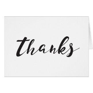 Löschen Sie danken Ihnen zu kardieren Karte