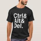 Löschung Ctrl Alt Del der Kontrollen-Alt T-Shirt