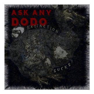 Löschungist zum Kotzen Dodo-Vogel-Entwurf Poster
