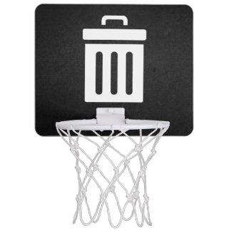Löschungs-Behälter-Ikone Mini Basketball Ring