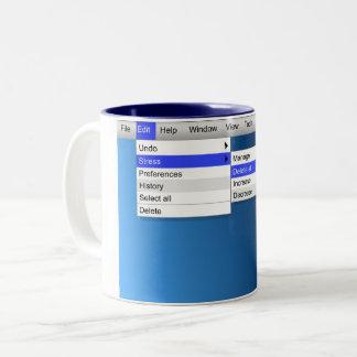 Löschungsdruck Zweifarbige Tasse