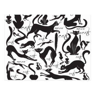 Lose Katzen Postkarte