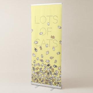 Lose kundenspezifisches Gelb Text der Katzen Ausziehbarer Banner