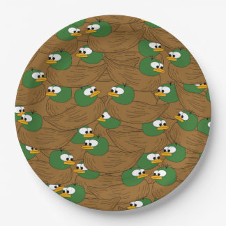Lose Stockenten-Enten Pappteller
