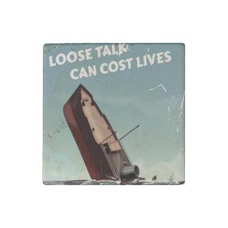 Lösen Sie Plakat der Gesprächs-Kosten-Leben-WW2 Stein-Magnet
