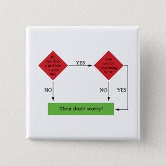 Lösen von Problemen Quadratischer Button 5,1 Cm