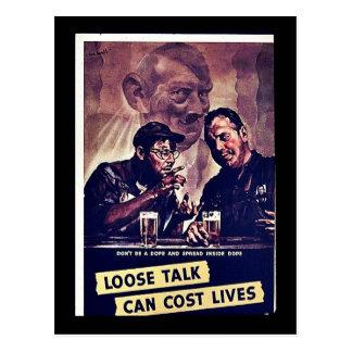 Loses Gespräch kann die Leben kosten Postkarte