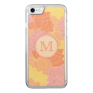Lotos-Blumen-Muster-Monogramm schnitzte iPhone 7 Carved iPhone 7 Hülle