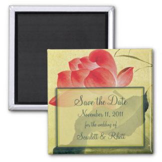 Lotos-Blüte, die Save the Date Magneten Wedding Quadratischer Magnet