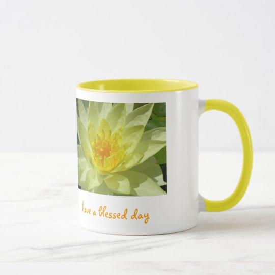 Lotos, haben einen gesegneten Tag Tasse