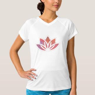 Lotos-Yoga-angepasstes Leistungs-T-Stück T-Shirt