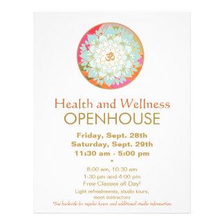 LotosMandalagesundheits-und Wellness-Flyer 21,6 X 27,9 Cm Flyer