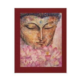 Lotoswatercolor-Leinwand-Druck 8x10 Buddhas rosa Leinwanddruck