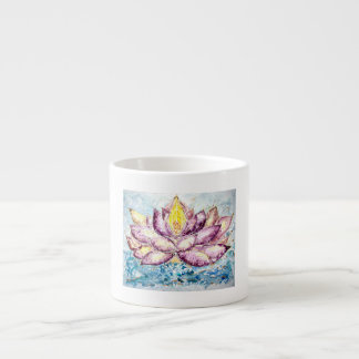 Lotus-Aquarell-Kunst-Espresso-Schale Espressotasse