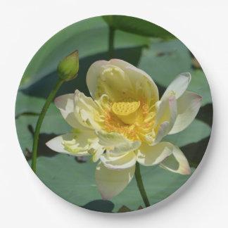 Lotus-Blüte Pappteller