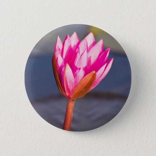Lotus-Blüte Runder Button 5,1 Cm