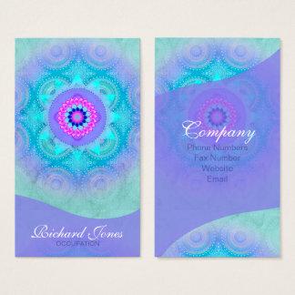Lotus-Blüten-Türkis-Mandala ID129 Visitenkarte